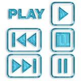 Sistema del icono de las multimedias Imágenes de archivo libres de regalías