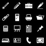 Sistema del icono de las notas del blanco del vector Foto de archivo