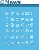 Sistema del icono de las noticias Imágenes de archivo libres de regalías