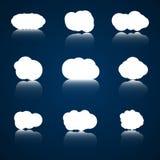 Sistema del icono de las nubes Foto de archivo libre de regalías