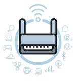 Sistema del icono de las tecnologías de Internet Imagenes de archivo