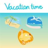 Sistema del icono de las vacaciones Imagen de archivo