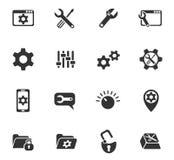 Sistema del icono de los ajustes Foto de archivo