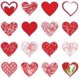 Sistema del icono de los corazones Foto de archivo libre de regalías