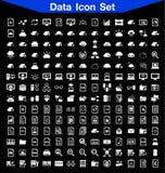 Sistema del icono de los datos Imagen de archivo libre de regalías