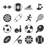 Sistema del icono de los deportes Imágenes de archivo libres de regalías