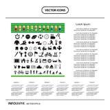 Sistema del icono de los deportes del vector Fotos de archivo