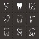 Sistema del icono de los dientes del vector Fotografía de archivo libre de regalías