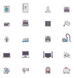 Sistema del icono de los electrodomésticos  ilustración del vector