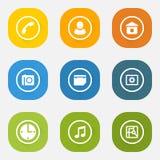 Sistema del icono de los elementos del web Fotos de archivo libres de regalías