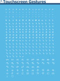 Sistema del icono de los gestos de la pantalla táctil Imagen de archivo libre de regalías