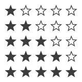 Sistema del icono de los grados de la estrella del vector foto de archivo libre de regalías