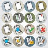 Sistema del icono de los informes Fotos de archivo