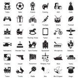 Sistema del icono de los juguetes Foto de archivo libre de regalías