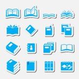 Sistema del icono de los libros Imagen de archivo libre de regalías