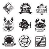 Sistema del icono de los mariscos Imagen de archivo