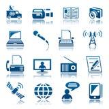 Sistema del icono de los medios Foto de archivo