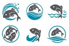 Sistema del icono de los pescados Imagen de archivo