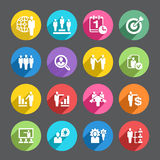 Sistema del icono de los recursos humanos Foto de archivo libre de regalías