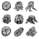 Sistema del icono de los tocones, estilo simple ilustración del vector