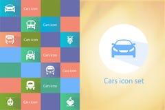 Sistema del icono de los transportes Imágenes de archivo libres de regalías