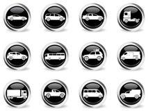 Sistema del icono de los vehículos Fotos de archivo libres de regalías