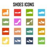 Sistema del icono de los zapatos Stock de ilustración