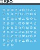 Sistema del icono de SEO Imagen de archivo