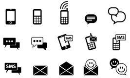 Sistema del icono de SMS del mensajero Imagenes de archivo