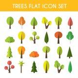 Sistema del icono del árbol ilustración del vector