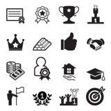 Sistema del icono del éxito Fotos de archivo libres de regalías