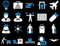 Sistema del icono del aeropuerto Imagen de archivo libre de regalías