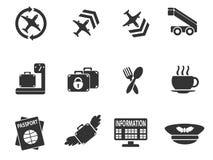 Sistema del icono del aeropuerto Fotografía de archivo libre de regalías