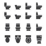 Sistema del icono del armario de agua ilustración del vector