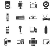 Sistema del icono del artilugio Imagen de archivo