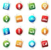 Sistema del icono del artilugio Fotos de archivo libres de regalías