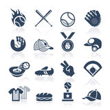 Sistema del icono del béisbol Imagen de archivo