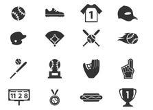 Sistema del icono del béisbol Foto de archivo libre de regalías