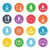 Sistema del icono del botón de la transferencia directa Foto de archivo libre de regalías