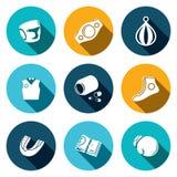 Sistema del icono del boxeo Imagen de archivo libre de regalías