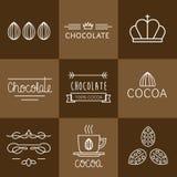 Sistema del icono del cacao ilustración del vector
