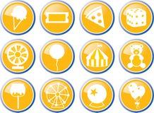 Sistema del icono del carnaval Foto de archivo libre de regalías