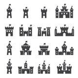 Sistema del icono del castillo libre illustration