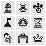 Sistema del icono del castillo del vector Foto de archivo