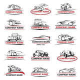Sistema del icono del coche Imagen de archivo libre de regalías