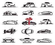 Sistema del icono del coche Fotos de archivo libres de regalías