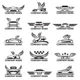 Sistema del icono del coche Foto de archivo libre de regalías