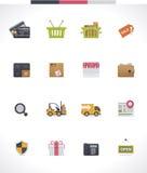 Sistema del icono del comercio electrónico del vector Fotografía de archivo libre de regalías