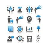 Sistema del icono del concepto del negocio Foto de archivo