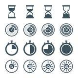Sistema del icono del contador de tiempo stock de ilustración
